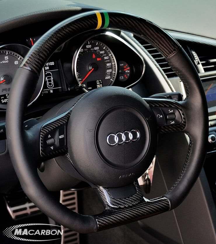 Audi R8 Steering Wheels R8 Wheel With Jamaica National Colors