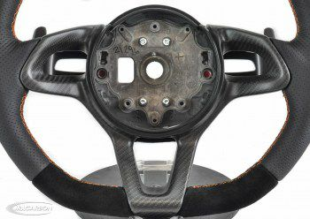 McLaren 12C/650/675/670 Steering Wheel - Matte Carbon and Orange