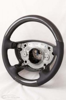 Mercedes W463 Thick Steering Wheel Carbon with Black Leather