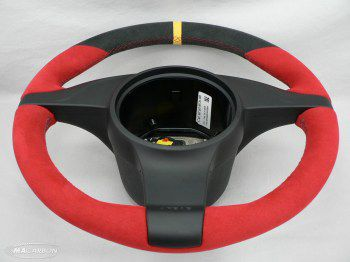 997 Standard Wheel- Red Leather, Yellow Ring